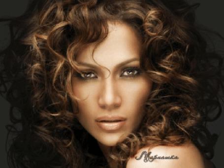 Фото Лицо Дженнифер Лопес / Jennifer Lopez крупным планом