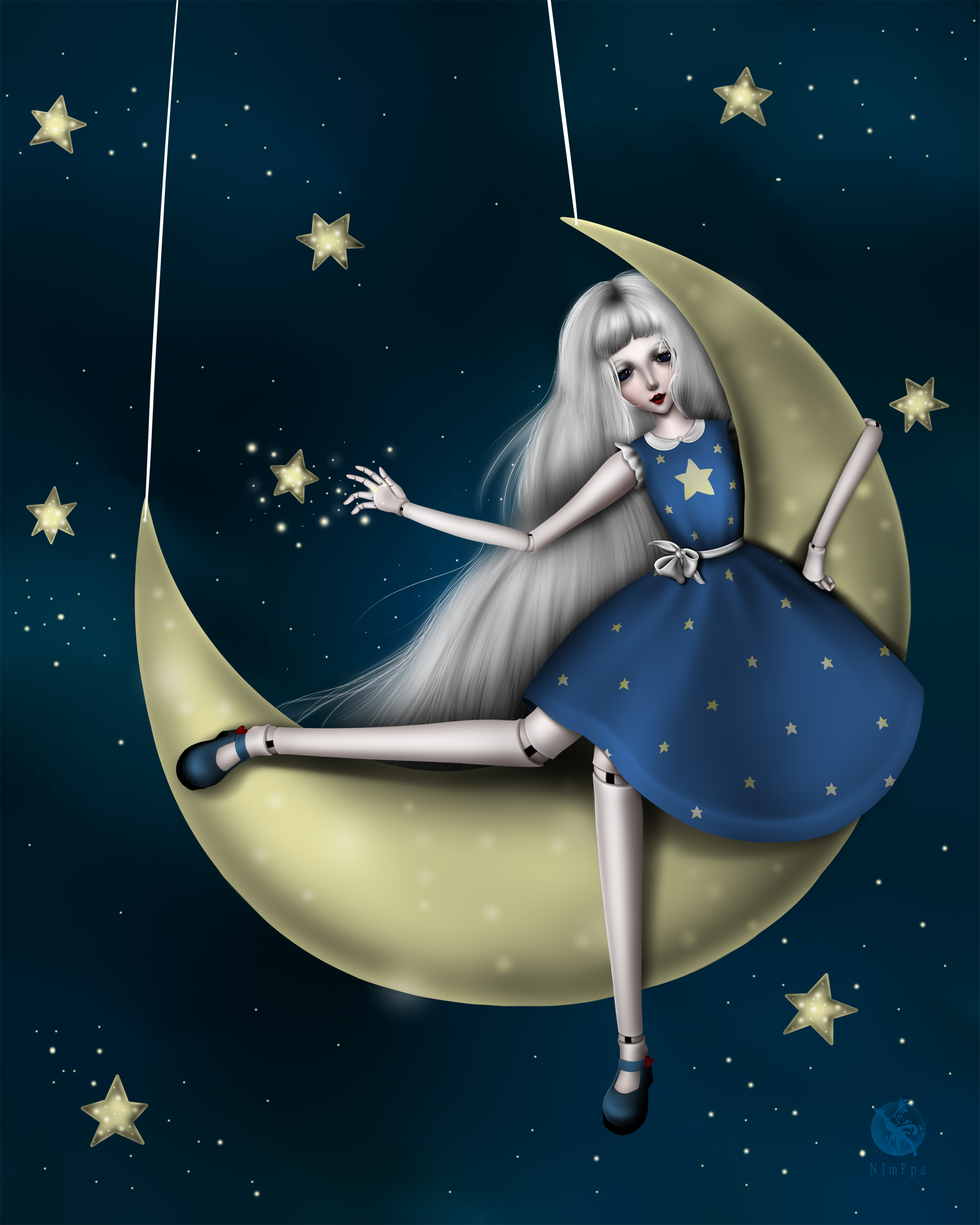 Луна девочка картинки для детей