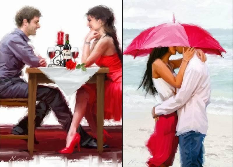 Фото влюбленные сидят в кафе и стоят