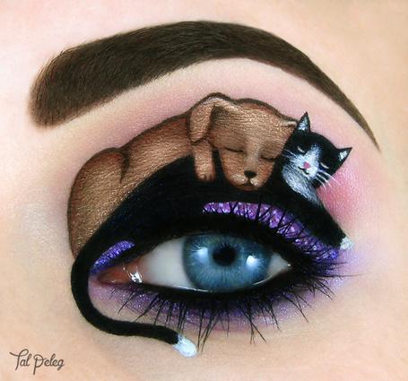 Фото Глаз с макияжем щенка и кота, by scarlet moon1