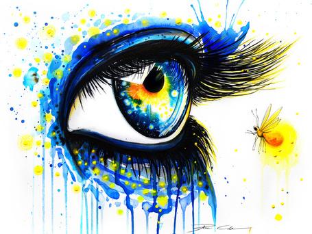 Фото Нарисованный глаз, от PixieCold