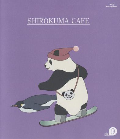 Фото Пингвин и панда занимаются сноубордингом. Аниме Кафе у белого медведя / Shirokuma Cafe