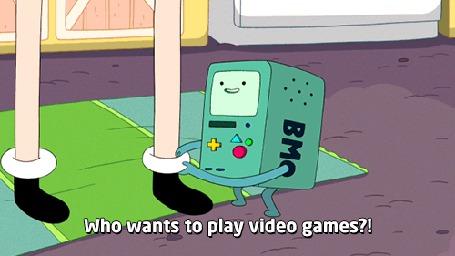 Фото БиМО / BMO просит Финна / Finn поиграть (Who wants to play video games), Adventure Time / Время Приключений с Финном и Джейком