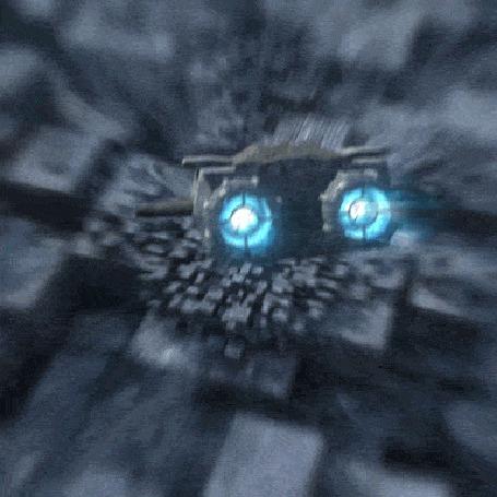 Фото Космический аппарат падает вниз