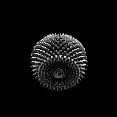 Фото Метаморфозы игольчатого шара