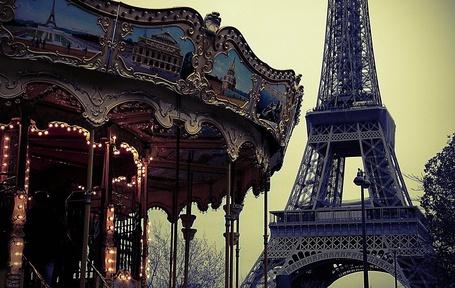 Фото Карусель у Эйфелевой башни, Париж, Франция / Paris, France