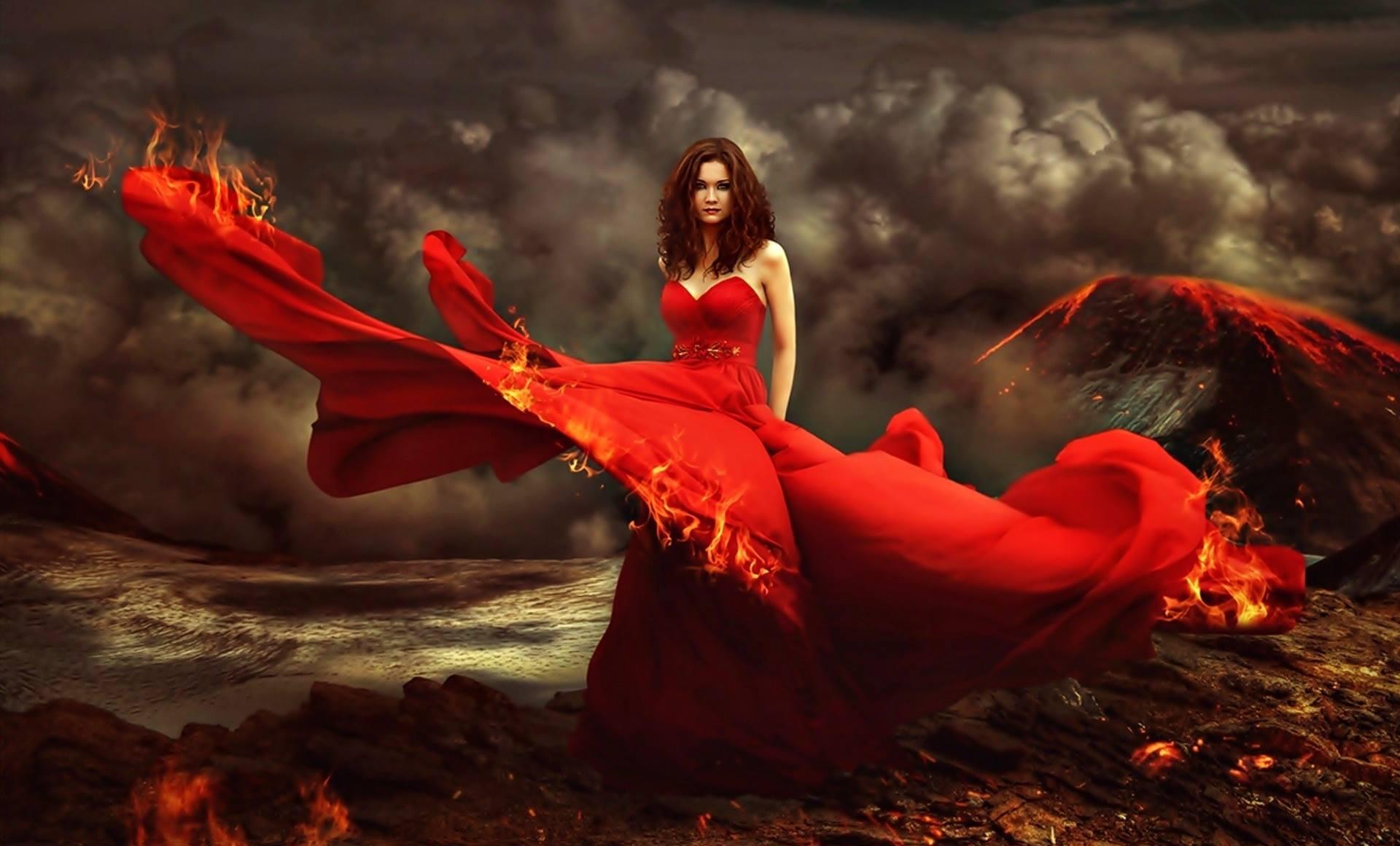 Ведьма В Красном Платье