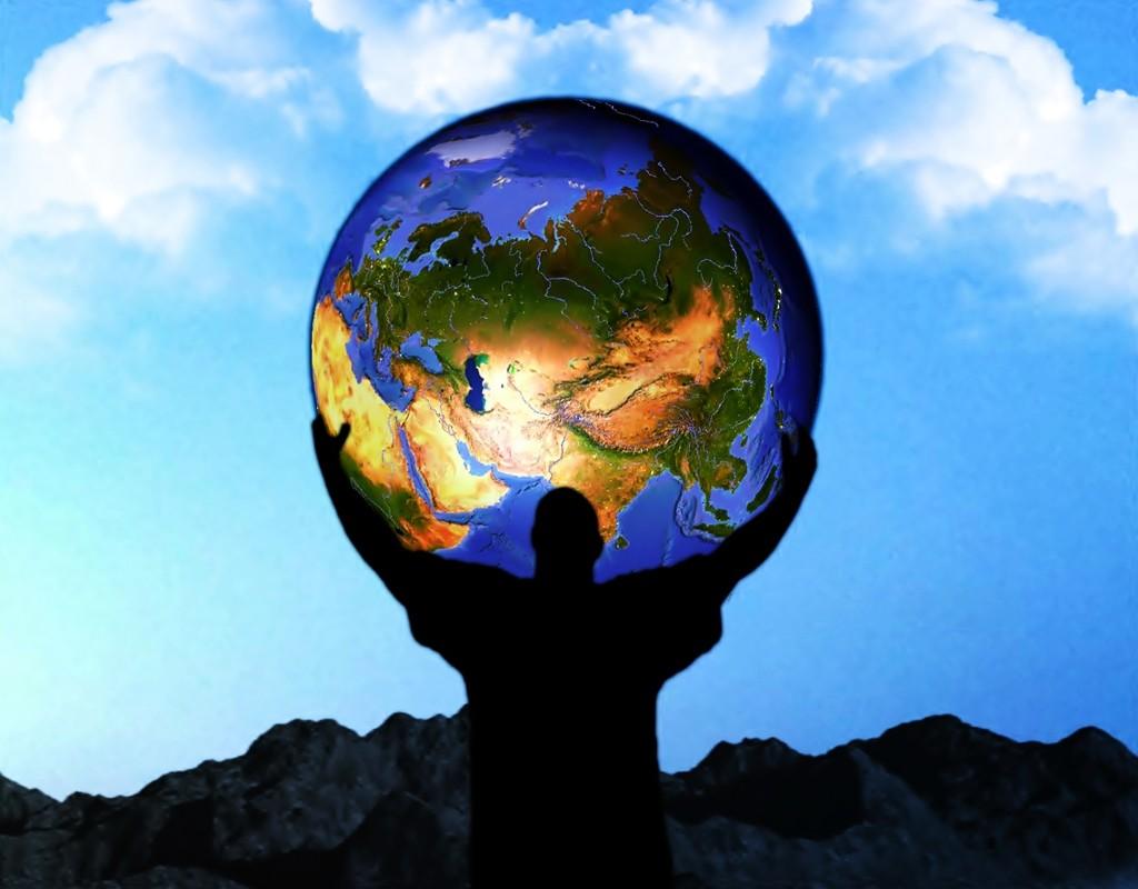 Земной шар и люди фото