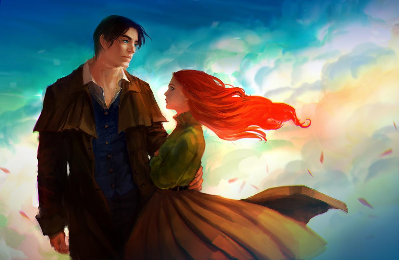 Фото девушка рыжая и мужчина так