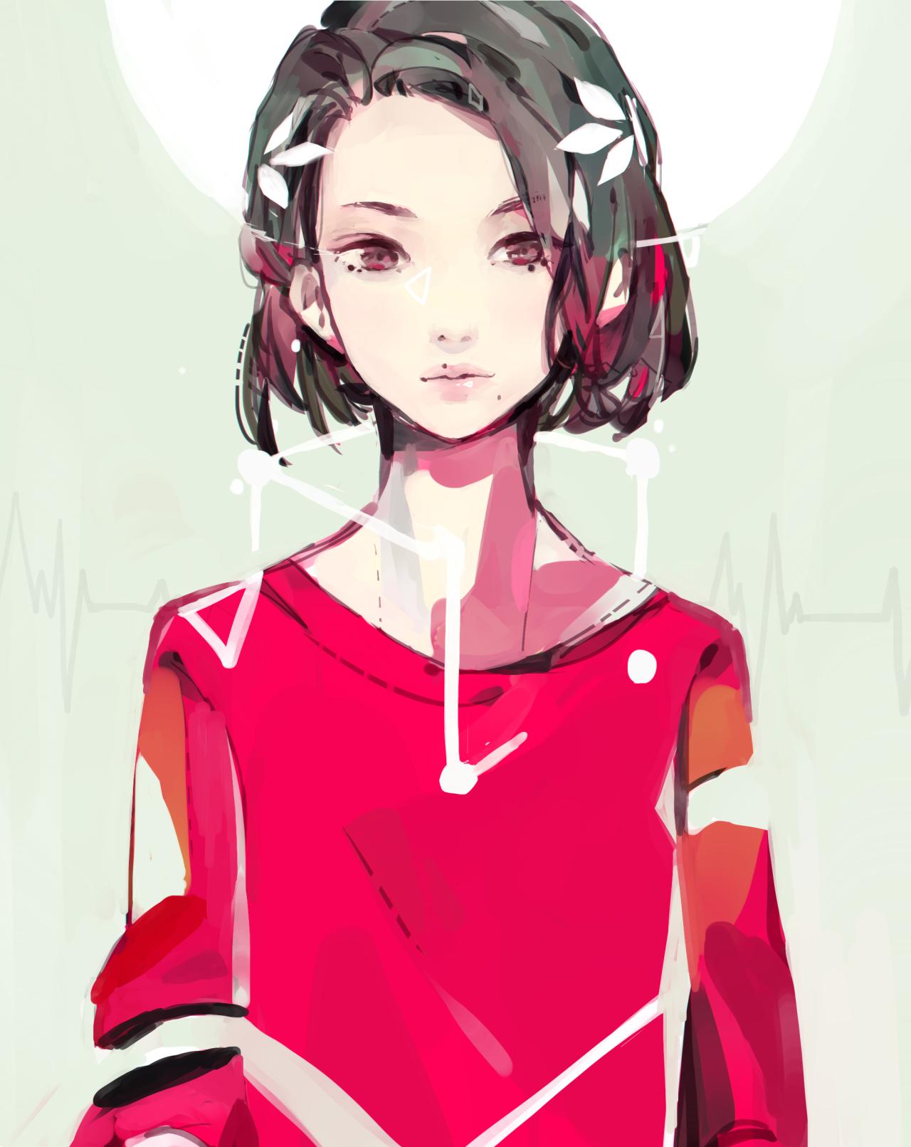 Девушки с короткой стрижкой аниме