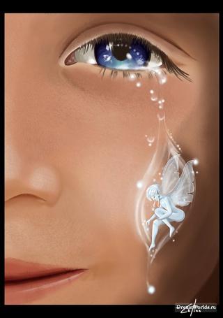 Фото Девочка со слезой в виде девушки - феи