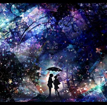 Девушка и парень аниме арты 8