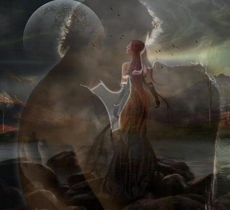 Фото Девушка и влюбленные на фоне природы