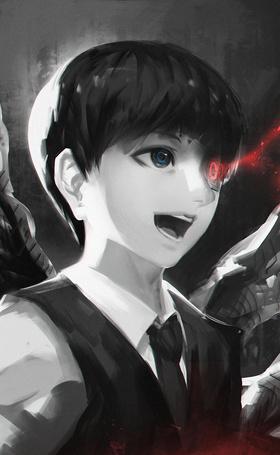 Фото Ken Kaneki / Кэн Канэки из аниме Tokyo Ghoul / Токийский Гуль