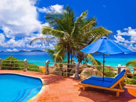 Фото Отдых, море, пляж, пальмы, бассейн