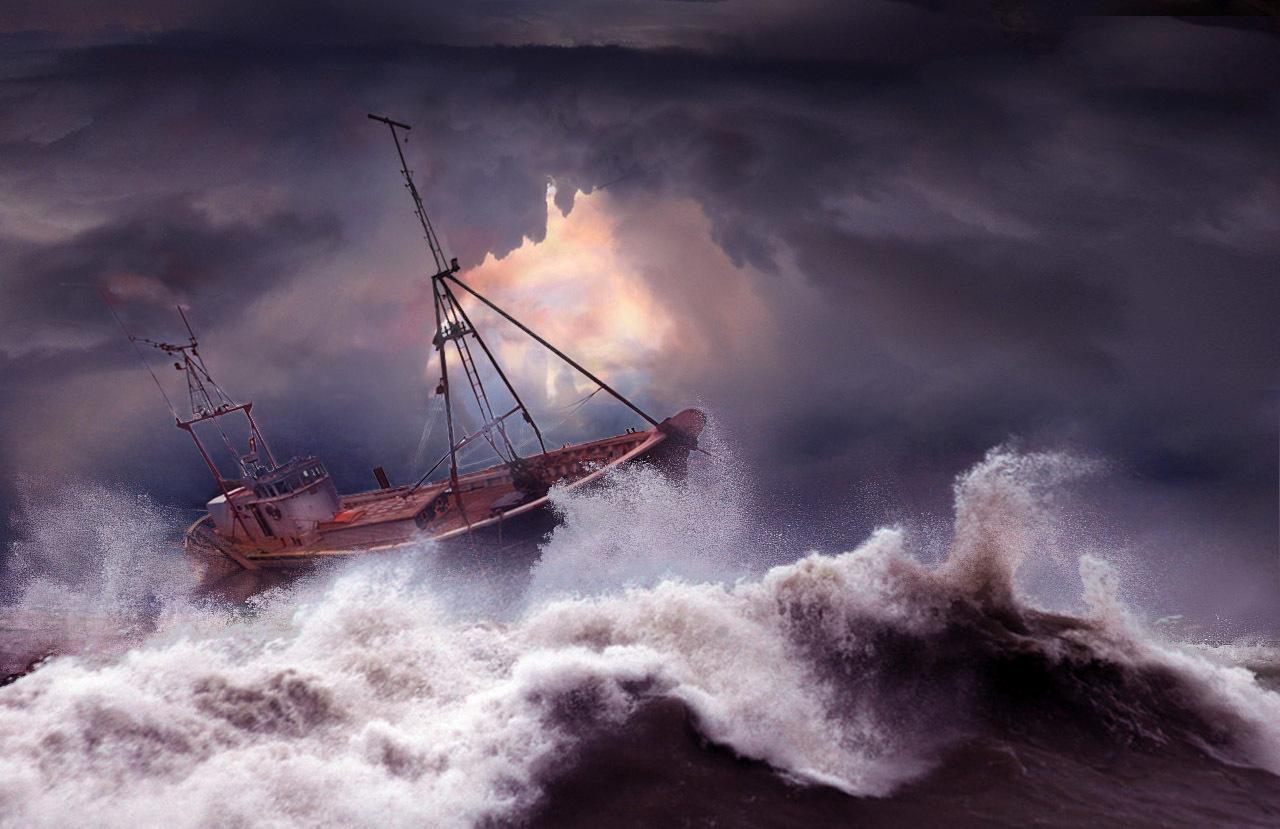 было белый корабль в шторм картинки должна