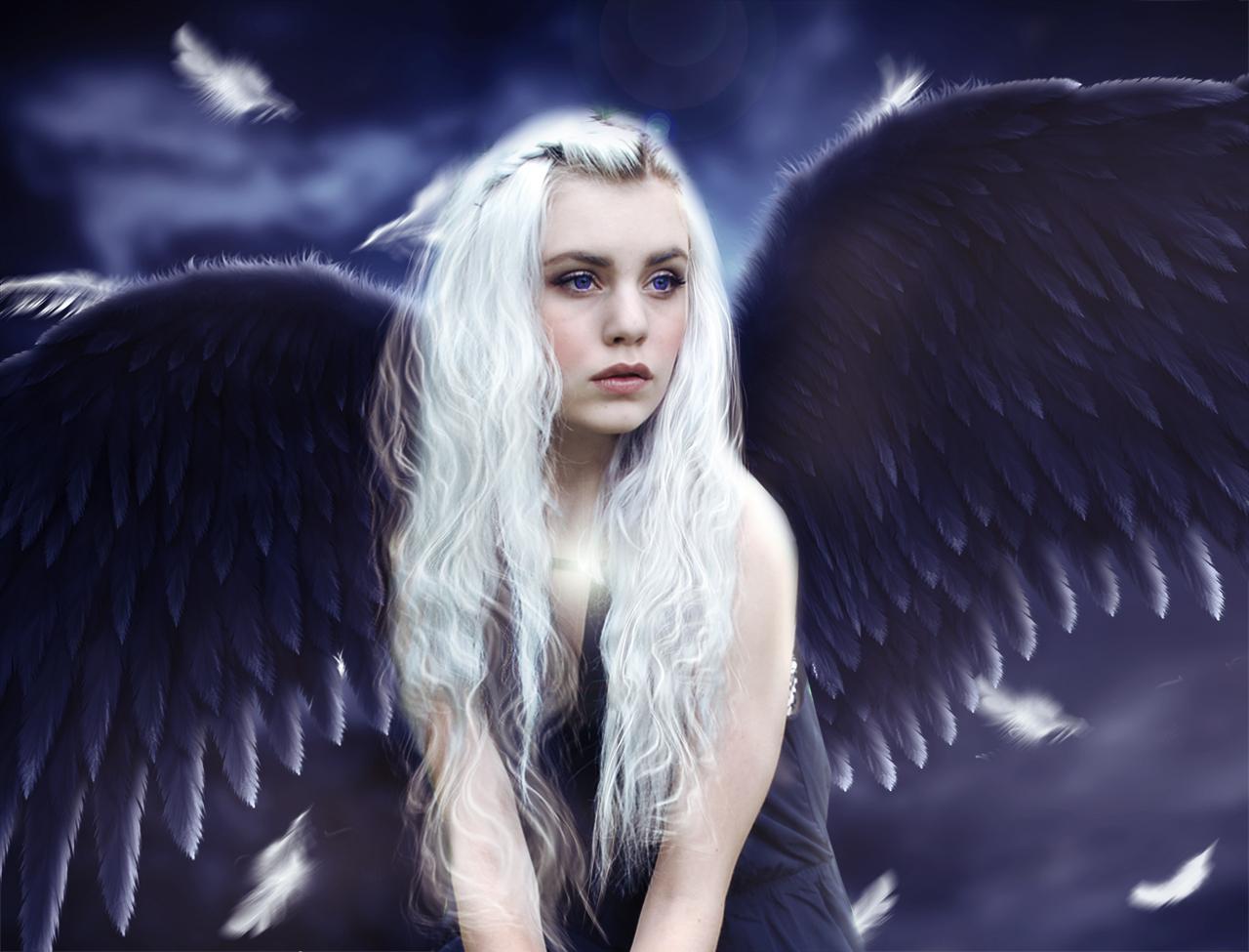 фото ангел с белыми волосами школе