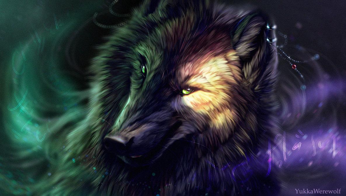 тут картинки волшебных волков на аву свое