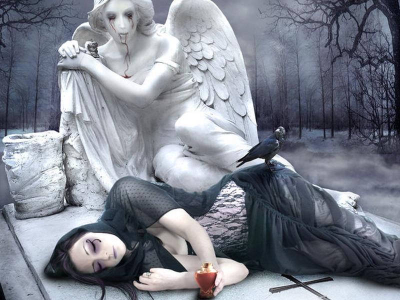 Картинки ангел умирает