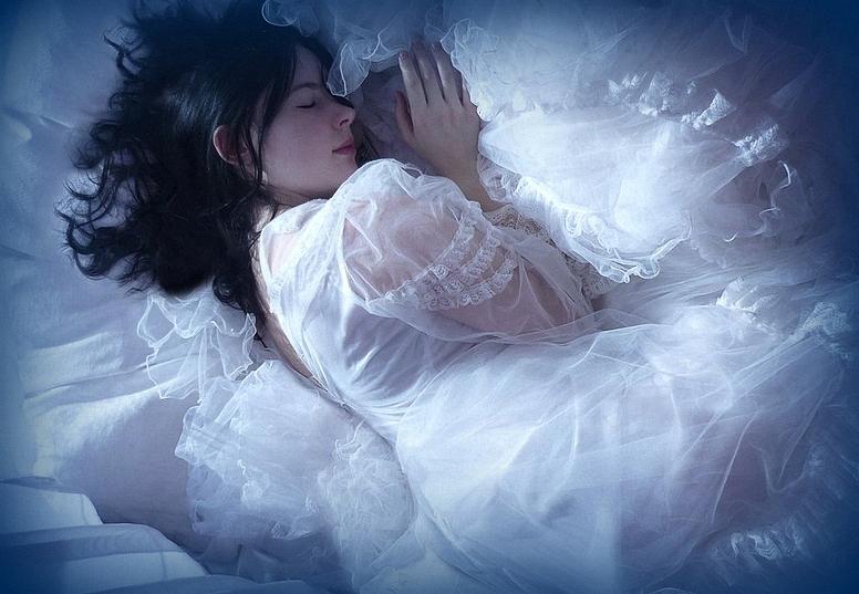 Это вам, открытка спящая девушка