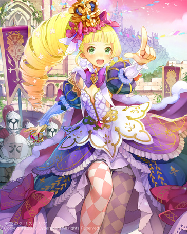 Фото Девушка принцесса в пышном платье на фоне замка, художник Cocorip