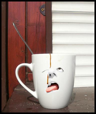 Фото Утренний кофе - чашка с изображением лица, by ABVH