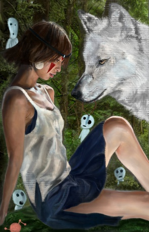 ���� Princess Mononoke � ����, by Asidpk (� zmeiy), ���������: 13.04.2015 09:34