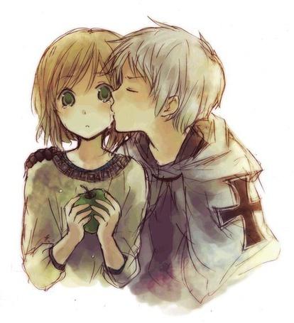 Фото Парень целует плачущую девушку в щечку