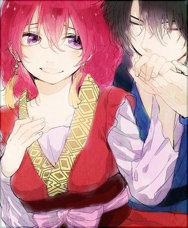 Фото Йона / Yona и Хак / Hak герои из аниме Рассвет Йоны / Йона на заре / Akatsuki no Yona