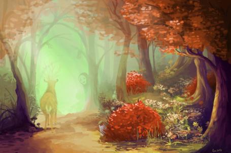 Фото Безликий из аниме Унесенные призраками / Spirited Away, Лесной бог из аниме Принцесса Мононокэ / Mononoke Hime и маленький Тоторо из аниме Мой сосед Тоторо / My Neighbor Totoro, art by Guava-Pie