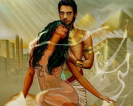Фото Влюбленные египетский фараон и принцесса Египта
