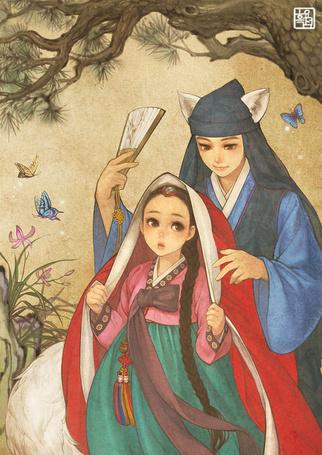 Фото Красная Шапочка и Серый Волк из сказки Красная шапочка / Red Riding Hood, корейский вариант