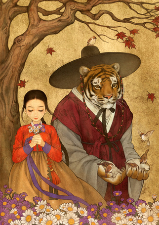 Фото Белль и Чудовище из сказки Красавица и чудовище / Beauty and the Beast