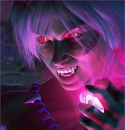Фото Инуяся из манга-сериала Румико Такахаси Инуяся / InuYasha Пес демон-хранитель с красным кристаллом в руке