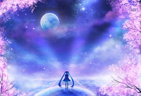 Фото Vocaloid Hatsune Miku / Вокалоид Хатсуне Мику, art by sugarmints