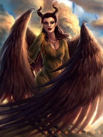 Фото Малефисента / Maleficent из фильма Малефисента / Maleficent на фоне облаков, by denahelmi