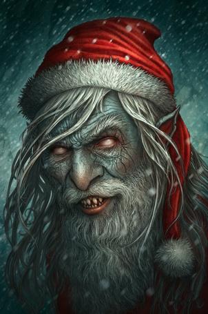 Фото Злой Санта Клаус, художник Kerem Beyit