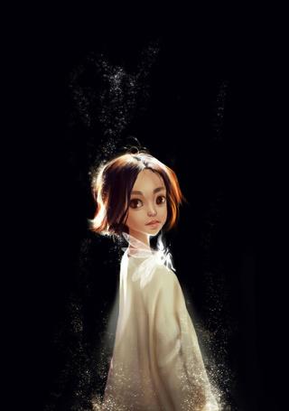 Фото Маленькая фея сидит у девочки на плече, by iruuse