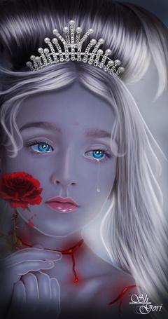 Фото Девочка с цветком в руках и короной на голове, by GORI89