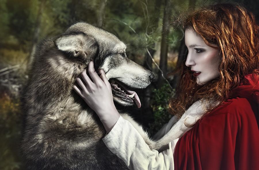 Картинки с красной шапочкой и волком