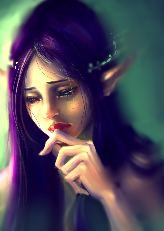 Грустные и красивые картинки с эльфийскими девушками, день рождения