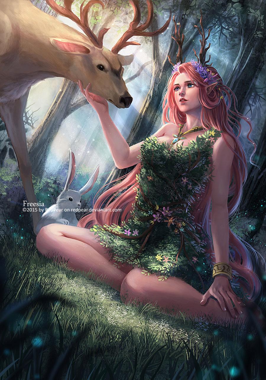 Картинки олени девушки