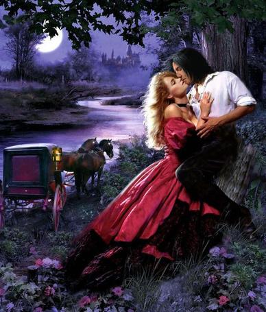 Фото Двое влюбленных возле кареты