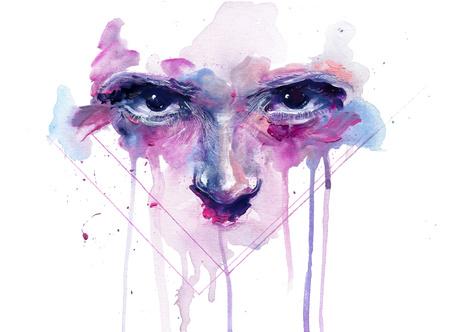 Фото Рисунок лица человека