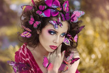 Фото Девушка в бабочках, by DarkVenusPersephonae
