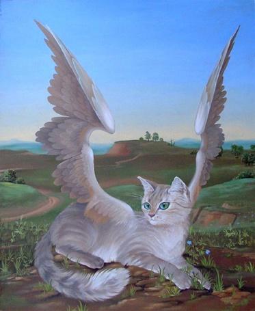 Фото Крылатая кошка, ву Анна Зинковская
