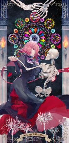 Фото Девушка танцует со скелетом