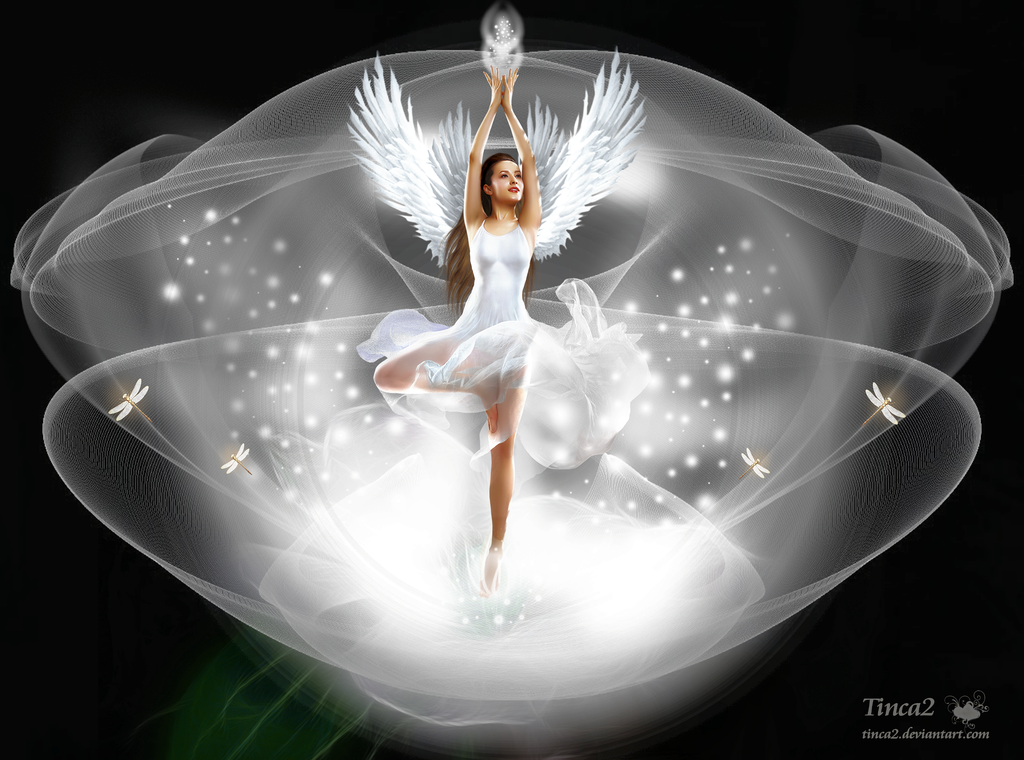 Фото Девушка - ангела с магией в руках, by tinca2