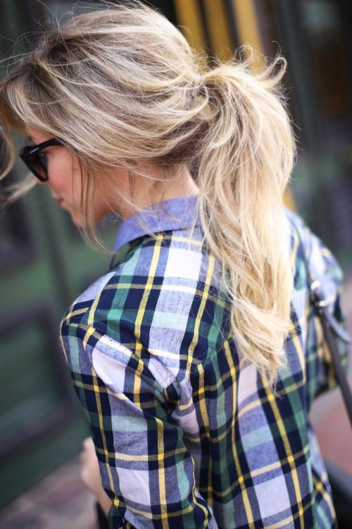 Причёски под клетчатую рубашку