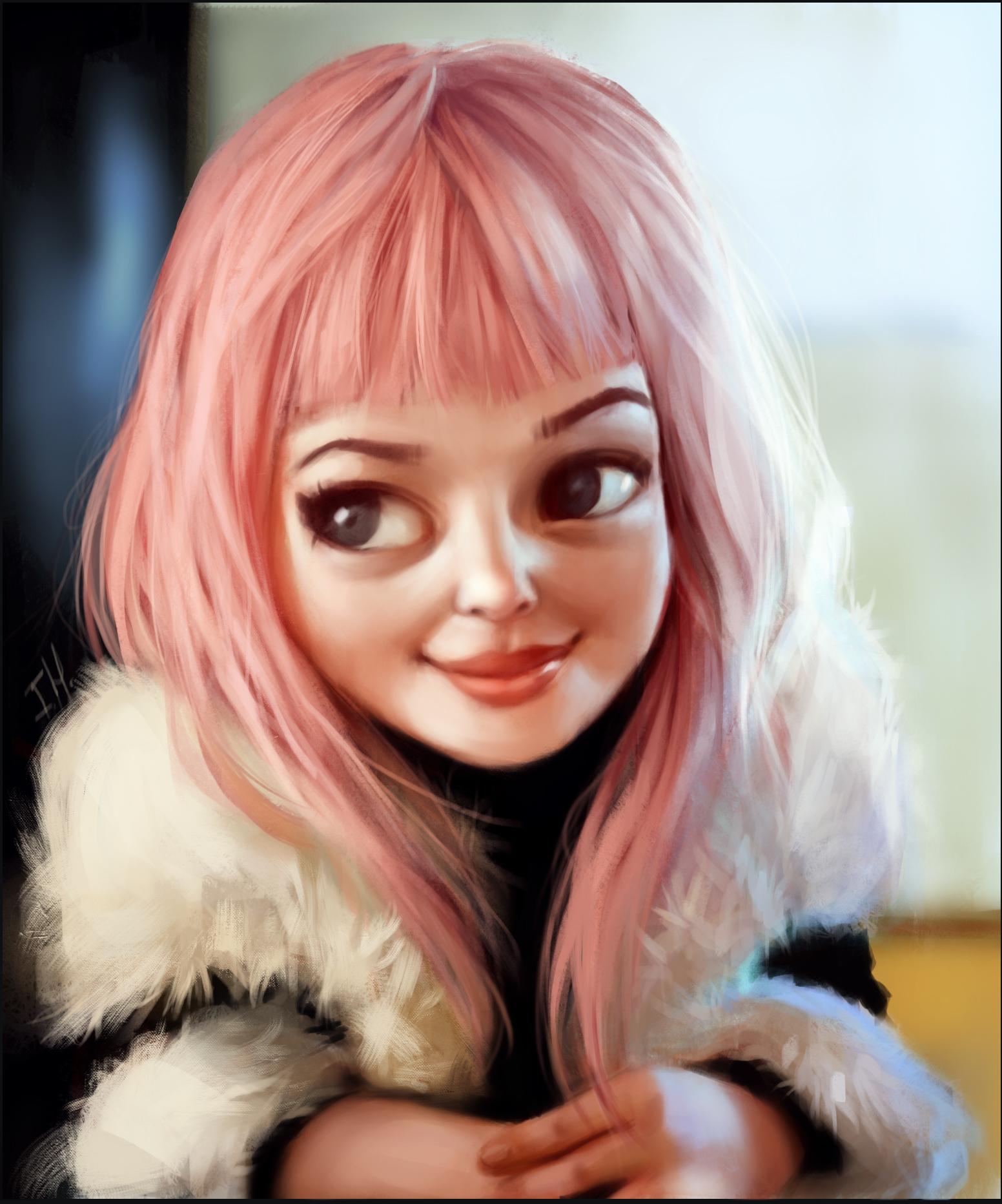 рисунки мила лиды с глазами очень милые показывает